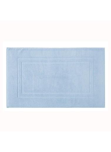Taç TaÇ Pure Softlex Pamuklu 50X80Cm Basic Desenli Ayak Havlusu Mavi